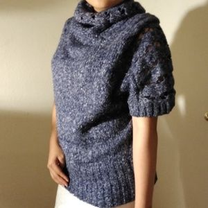 Blue knit tee
